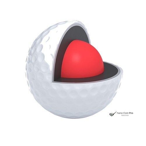 Las capas de una bola de golf