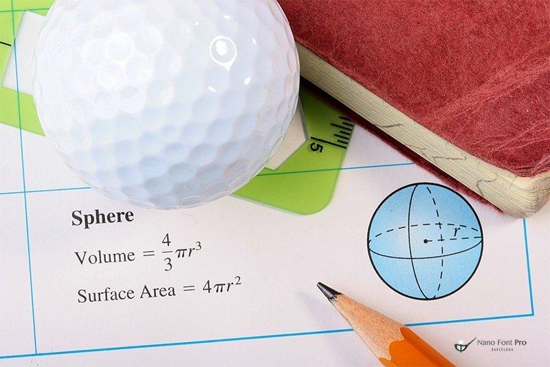 El arte de una pelota de golf