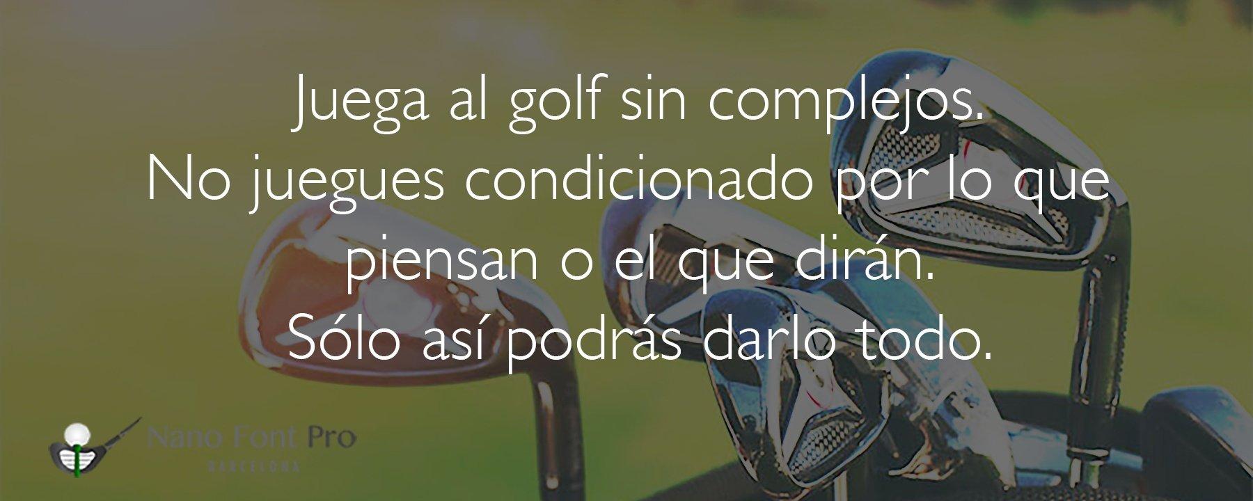 Juega al golf sin complejos